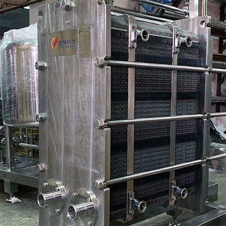 Plate & Frame Heat Exchanger - Gasketed plate-and-frame heat exchanger for multi-section applications.