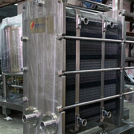 Intercambiador de calor de placas y marcos - Intercambiador de calor de placas y bastidores con juntas para aplicaciones de varias secciones.