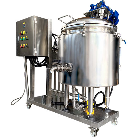 Stainless Steel Process Tanks - Jacketed stainless steel tank with agitator for heating / cooling.