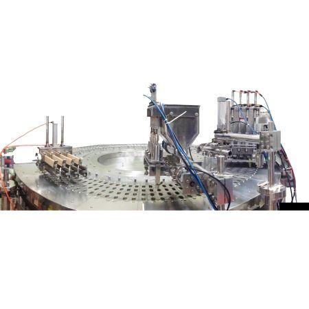 Máquina de moldeo rotativa de palitos de paleta - Máquina para hacer paletas industriales, polos de hielo y barras de helado - Rotativa.