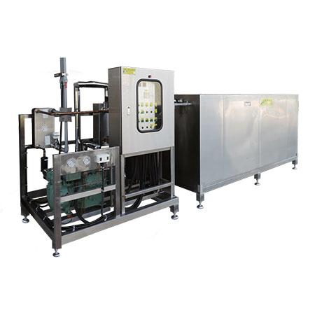 Enfriadores de agua y bancos de hielo - Unidades enfriadoras de agua con tanques de agua para almacenamiento de hielo.