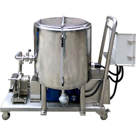 Bomba de ondulación - Estación de bombeo de jarabe y chocolate para aromatizar y variegar helados.