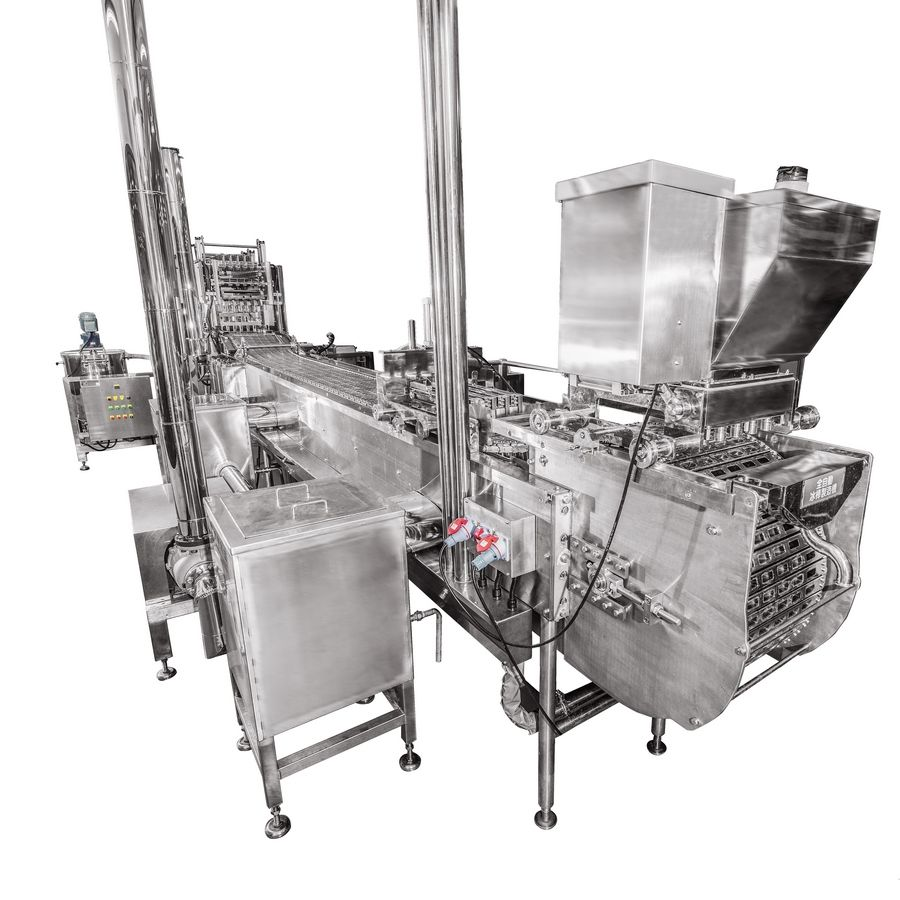Linear Popsicle Stick Moulding Machine - Industrial popsicles, ice lollies and ice cream bars making machine.