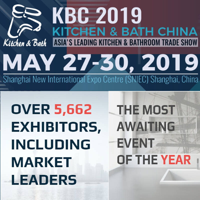 KBC 2019 Kitchen and Bath China,Shanghai