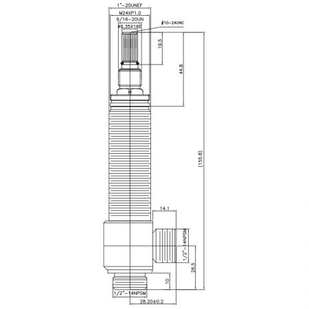 """1/2 Half Inch SV100 Type Side Body 1""""-20UNEF Body Thread 1/2""""-14NPSM Inlet 1/2""""-14NPSM Outlet Widespread Rough-in Valve - 1/2 Half Inch SV100 Type Side Body 1""""-20UNEF Body Thread 1/2""""-14NPSM Inlet 1/2""""-14NPSM Outlet Widespread Rough-in Valve"""