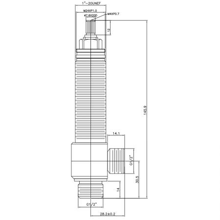 "1/2 Half Inch SV105 Type Side Body 1""20UNEF Body Thread G1/2"" Inlet G1/2"" Outlet Widespread Rough-in Valve - 1/2 Half Inch SV105 Type Side Body 1""20UNEF Body Thread G1/2"" Inlet G1/2"" Outlet Widespread Rough-in Valve"