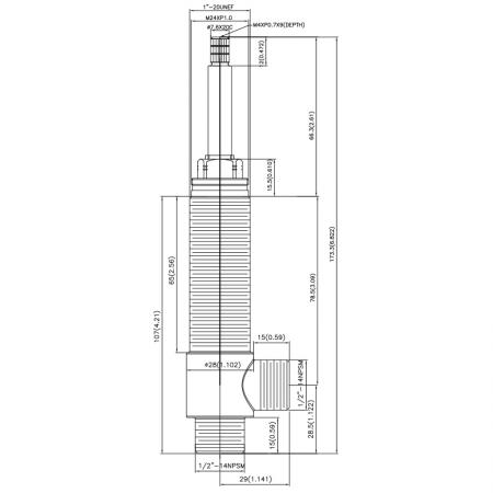 """1/2 Half Inch SV182 Type Side Body 1""""20UNEF Body Thread 1/2""""-14NPSM Inlet 1/2""""-14NPSM Outlet Widespread Rough-in Valve - 1/2 Half Inch SV182 Type Side Body 1""""20UNEF Body Thread 1/2""""-14NPSM Inlet 1/2""""-14NPSM Outlet Widespread Rough-in Valve"""