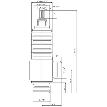"""3/4 Three Quarter Inch SV207 Type Side Body M32XP1.5 Body Thread G3/4"""" Inlet G3/4"""" Outlet Widespread Rough-in Valve - 3/4 Three Quarter Inch SV207 Type Side Body M32XP1.5 Body Thread G3/4"""" Inlet G3/4"""" Outlet Widespread Rough-in Valve"""
