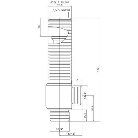 """3/4 Three Quarter Inch SV208 Type Side Body 32X19T.P.I Body Thread G3/4"""" Inlet G3/4"""" Outlet Widespread Rough-in Valve - 3/4 Three Quarter Inch SV208 Type Side Body 32X19T.P.I Body Thread G3/4"""" Inlet G3/4"""" Outlet Widespread Rough-in Valve"""