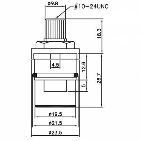1/2 1/2 인치 황동 2 개의 손잡이 꼭지 HB 유형 16이 유형 플러그 접속 식 유형 717 형 21.5 MM 반 시계 방향으로 90 ° 회전 닫히기 세라믹 카트리지 - 1/2 1/2 인치 황동 2 개의 손잡이 꼭지 HB 유형 16이 유형 플러그 접속 식 유형 717 형 21.5 MM 반 시계 방향으로 90 ° 회전 닫히기 세라믹 카트리지