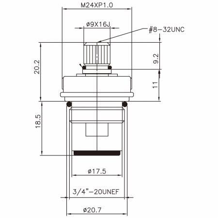 """3/8 3 개의 8 인치 고급 장교 2 손잡이 꼭지 HBM 유형 니켈에 의하여 도금되는 9 X 16J이 297 Broach 유형 3/4 """"-20UNEF 90도 시계 방향으로 돌리십시오 세라믹 카트리지를 닫으십시오 - 3/8 3 개의 8 인치 고급 장교 2 손잡이 꼭지 HBM 유형 니켈에 의하여 도금되는 9 X 16J이 297 Broach 유형 3/4 """"-20UNEF 90도 시계 방향으로 돌리십시오 세라믹 카트리지를 닫으십시오"""