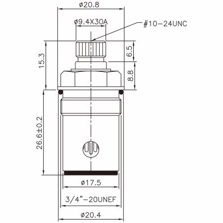 "3/8 Tiga Lapan Inch Brass Two Handle Faucet HCE Type 9.4 X 30A Teeth 314 Broach Type 3/4 ""-20UNEF 90 Degree Clockwise Turn Close Cartridge Seramik - 3/8 Tiga Lapan Inch Brass Two Handle Faucet HCE Type 9.4 X 30A Teeth 314 Broach Type 3/4 ""-20UNEF 90 Degree Clockwise Turn Close Cartridge Seramik"