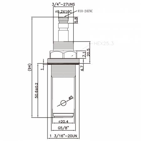 """5/8 Lima Lapan Inch DR Brass Two Handle Faucet HNM Type 9.2 X 16C Gigi 868 Broach Type G5 / 8 """"90 Degree Clockwise Turn Close Cartridge Seramik - 5/8 Lima Lapan Inch DR Brass Two Handle Faucet HNM Type 9.2 X 16C Gigi 868 Broach Type G5 / 8 """"90 Degree Clockwise Turn Close Cartridge Seramik"""