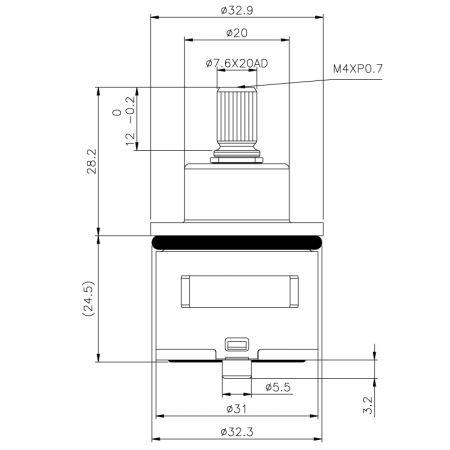 Kartrij Pencampuran Progresif Shell Tembaga 31mm - Kartrij Pencampuran Progresif Shell Tembaga 31mm