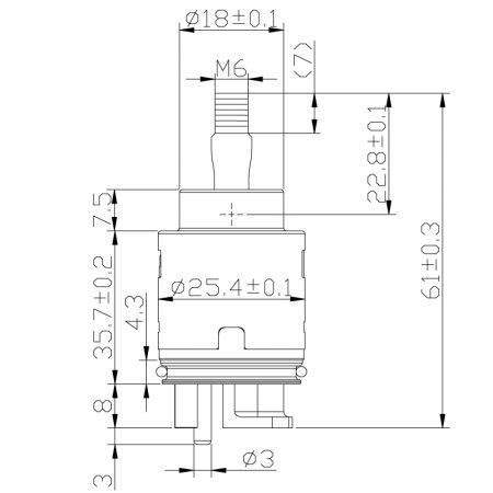 Kartrij Pencampuran Keramik Jenis Joystick Tunggal 25mm - Kartrij Pencampuran Keramik Jenis Joystick Tunggal 25mm