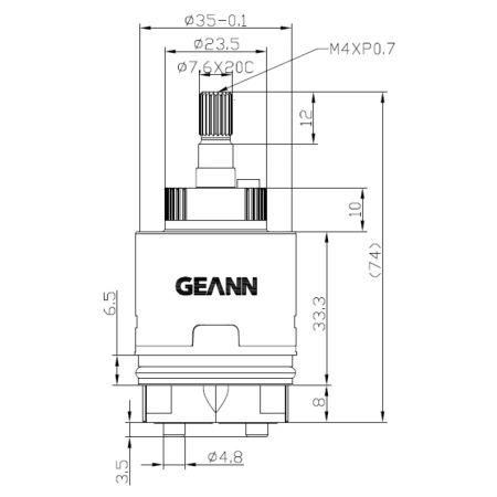 35mm Progressive Distributor Base 120 Degree Clockwise Turn Close Ceramic Disc Cartridge