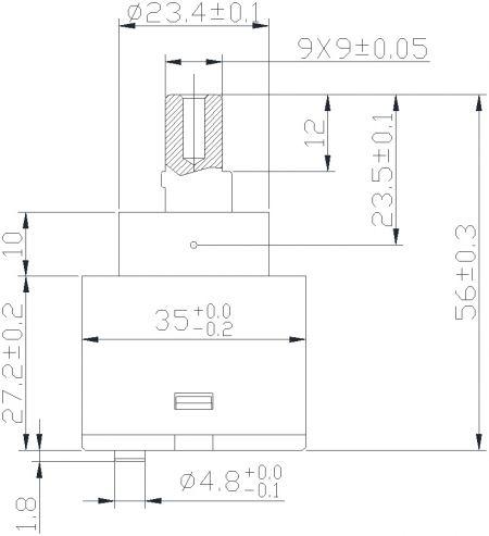 Kartrij Seramik Tuas Tunggal / Pengadun Penjimatan Tenaga 35mm dengan Pangkalan Piawai - Kartrij Seramik Tuas Tunggal / Pengadun Penjimatan Tenaga 35mm dengan Pangkalan Piawai
