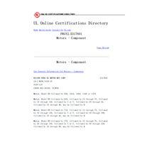 Certifié UL,