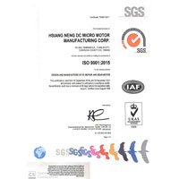 SGS ISO 9001: 2015 ver. renew in 2019,