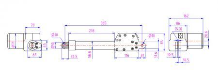 升降电动机可选择塑料升降杆与电动缸搭配感测器应用于侦测烟雾、瓦斯、风雨等装置。