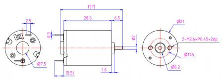 DC motor can adjust the voltage from 6-12v to fit Cleaning robot, Coffee machine.