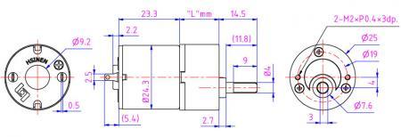 Micro motor HN25GA-HN250 de alta velocidad para máquina de moneda, impresora.