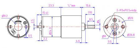Mini 27mm gearbox with 6V DC motor for claw machine, lab equipment.