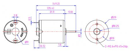 Mini DC motor often use in Table Equipment, Medical equipment, Automatic shutter.