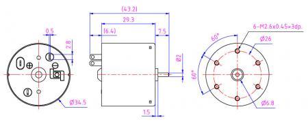 Modelo de motor de 6 V CC para cafetera, cerradura eléctrica, máquina expendedora y robot.