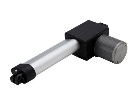 電動推桿馬達,推桿長度範圍 70mm - 200mm 與塑膠推桿 30mm 外徑 - 伸縮馬達可依照螺桿長度、材質 (鋁或塑料)、直線型電動推桿缸進行設計OEM外銷。