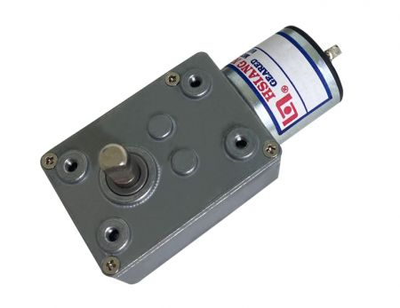 Worm Gear Motor in 46mm Gearbox and 25mm Dia. Micro DC Motor with 3V - 24V
