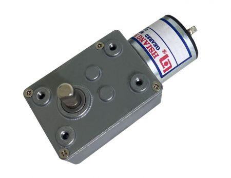 低转速蜗杆蜗轮46mm 外径搭配25mm 直流     电机可客制出力轴方向