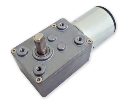 High torque 90 degrees angle shaft worm gear set in 46mm OD with 29mm 6V DC motor - The micro worm gear set can be used with masks vending machines, COVID-19 products, soap dispensers, hand washing machine, alcohol liquid dispenser.