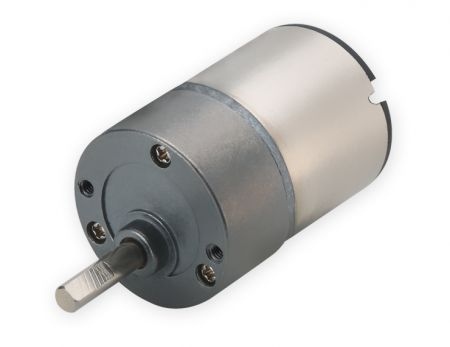 Diameter 25mm 3V to 24V ratio 19.1:1 low rpm DC Geared Motor - Speed reducer dia. 25mm adds stable dc motor stall torque 12V DC motor from gearboxes Taiwan OEM factory.
