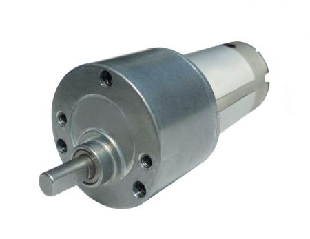 6V - 12V DC Spur Geared Motor with Gear Reducer in OD 50mm - DC 6V - 12V Gear reducer in OD 50mm, Hsiang Neng Spur geared motor manufacturer.