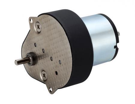 6kg-cm 90 degree Flat Spur Gearbox 66.5mm with 33mm 6V - 24V DC Motor - Middle size 12V DC generator motor with Flat Spur Speed Reducer.