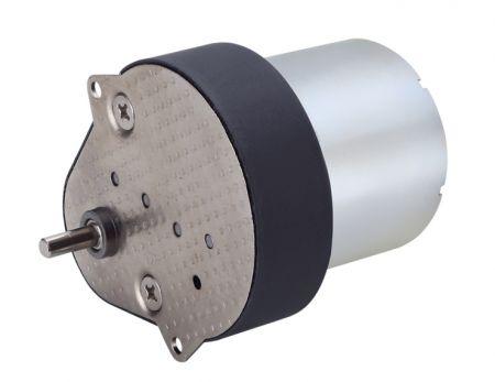 High Torque Flat Gearbox 66.5mm x 53.6mm with 6V - 24V DC 34.5mm Gear Motor - 50mm, 60mm with DC 24V 90 degree gearbox motors by Hsiang Neng Liquid dispenser industrial motor manufacturer.