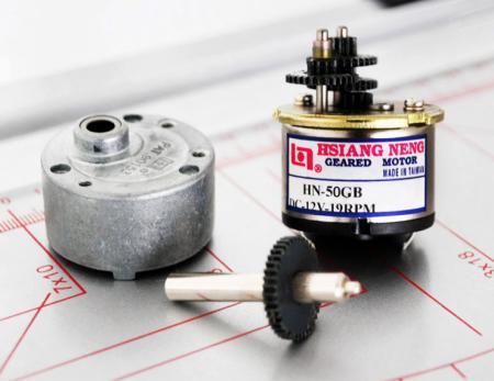 Tamaño medio Φ 50 mm de diámetro. Serie de caja de engranajes rectos - Fabricación de modelos de caja de cambios planetarios y microdirectos de pequeña vibración de 50 mm CC.