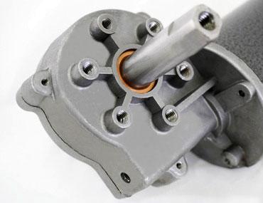 蜗杆蜗轮式减速 电机 - 祥能 电机可客制各式扭力、转速、电压等参数。