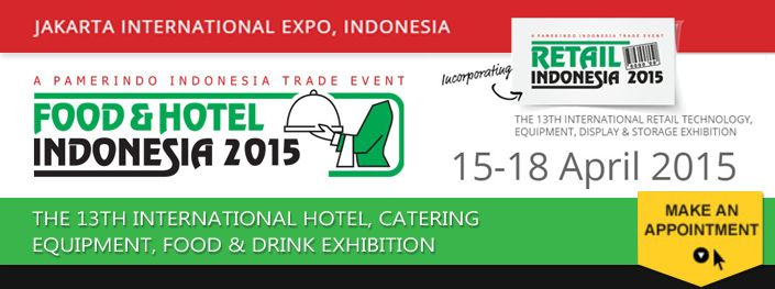 FOOD & HOTEL Messe 2015 in Indonesien
