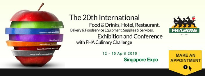 FOOD and HOTEL show 2016 in Singapore.