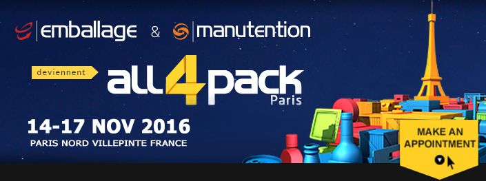 2016 EMBALLAGE Internationale Verpackungsmesse in Paris