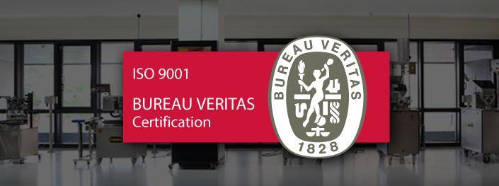 Ora siamo certificati ISO 9001: 2015!