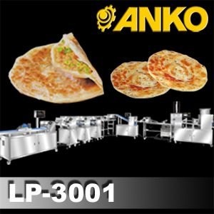 Automatic Layer & Stuffed Paratha Production Line - LP-3001. ANKO Automatic Layer & Stuffed Paratha Production Line