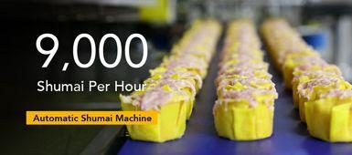 Yüksek Üretim Kapasiteli Otomatik Üç Hatlı Shumai Makinesi