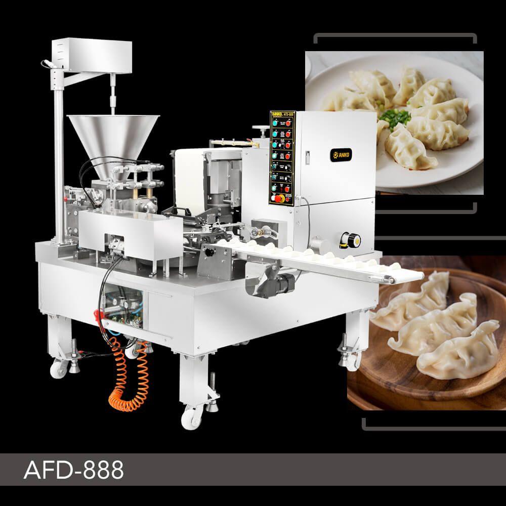 Automatic Dual Line Imitation Hand Made Dumpling Machine - AFD-888. ANKO Automatic Dumpling Folding Machine