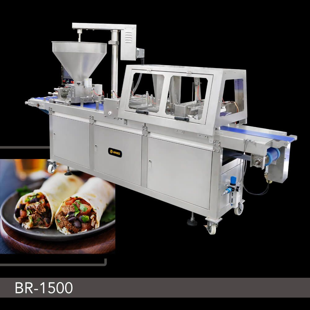 Burrito Forming Machine - BR-1500. ANKO Semi-Automatic Burrito Wrapping Machine
