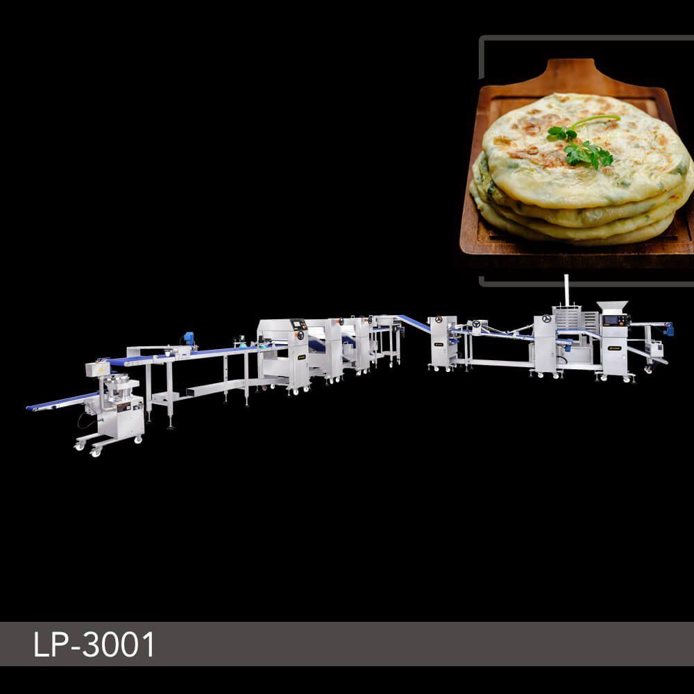 Automatic Layer & Stuffed Paratha Production Line - LP-3001. ANKO Automatic Layer & Stuffed Paratha Production Line
