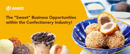 Pogled na raznolikost azijskih slatkih zalogaja i deserta