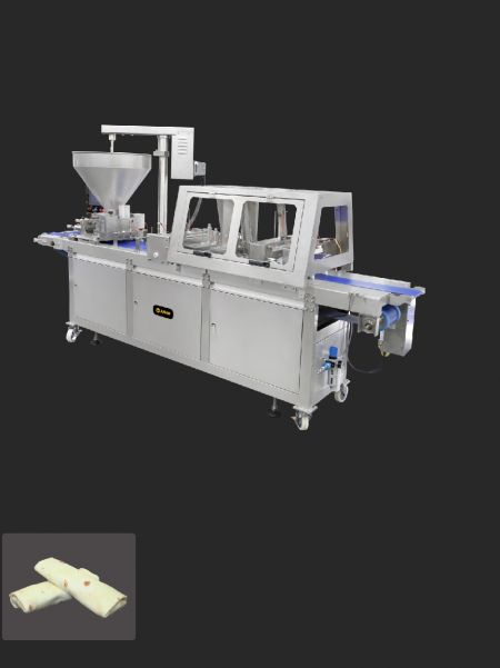 Burrito -formningsmaskine - ANKO Halvautomatisk Burrito-indpakningsmaskine